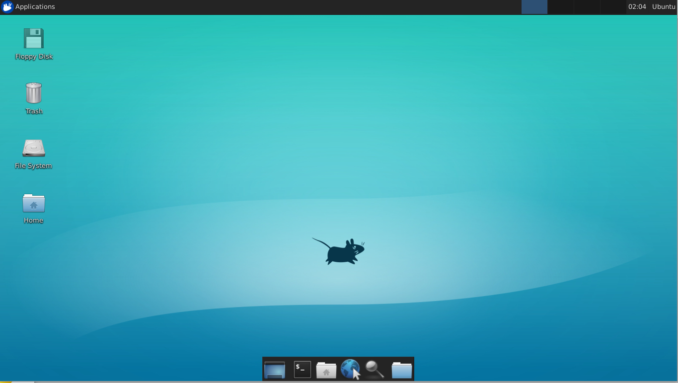 Screen shot of XFCE