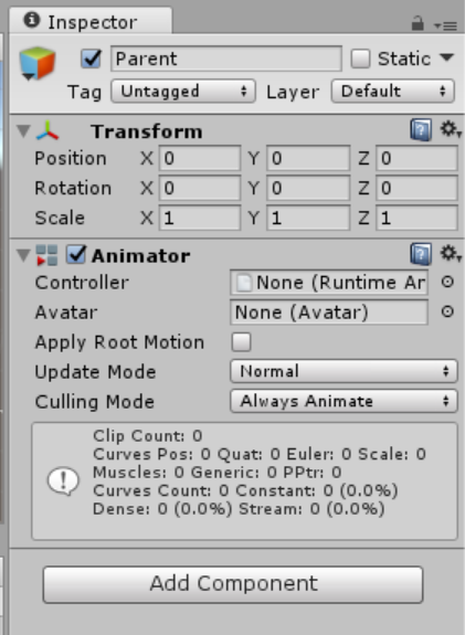 Screen shot of Create Animator