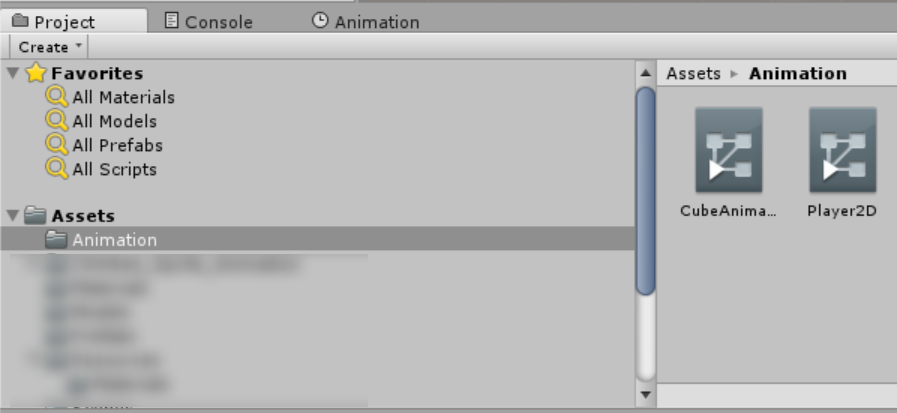 Screen shot of Create Animator Controller