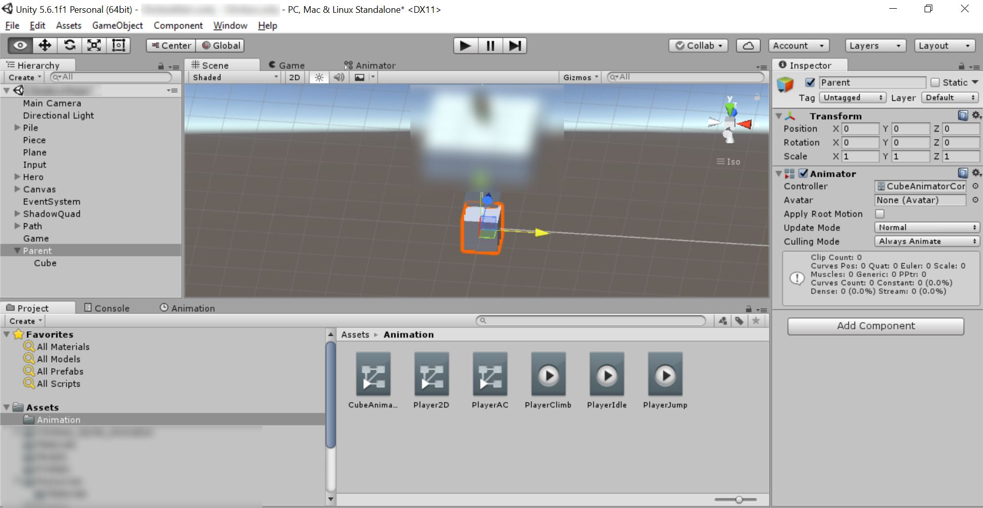 Screen shot of Attach Animator Controller